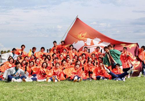 龍谷大学華舞龍様のよさこい旗