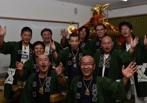 長野県佐野様の神輿半纏の写真
