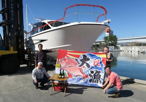 井上様の大漁旗の写真
