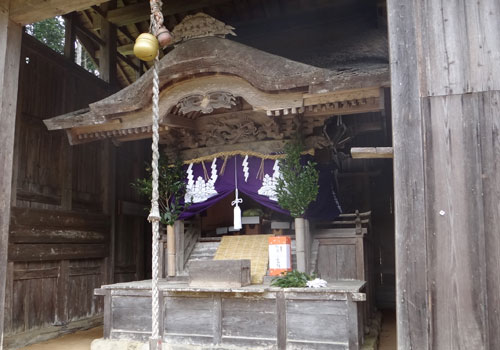兵庫県の若宮神社様の紋幕
