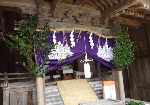 兵庫県若宮神社様の紋幕写真2