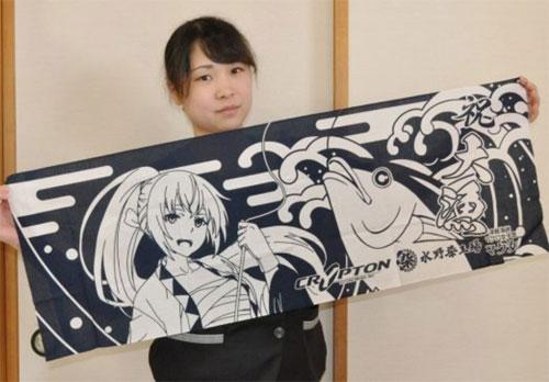 北海道新聞の朝刊に巡音ルカグッズの記事が掲載されました。