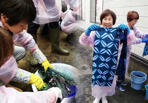 女性サロンスクール様の藍染体験!~伝統文化を楽しく学んで~