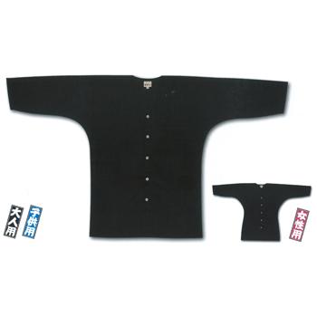 江戸一の鯉口シャツ(黒)