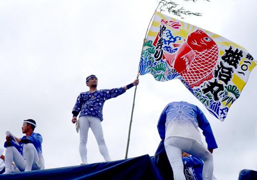 お祭りを彩る大漁旗!~お祭りが一層、盛り上がります~