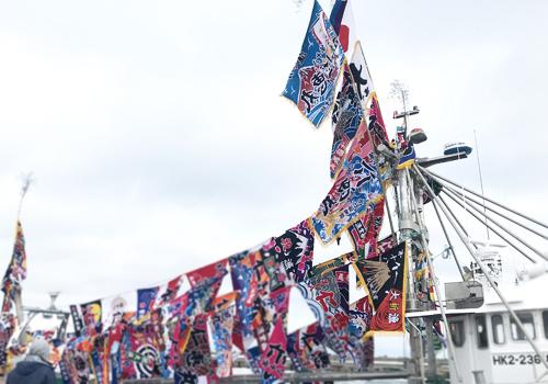 贈った先からも喜んでもらえる大漁旗です!!