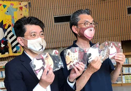 円山動物園様 動物マスク寄贈