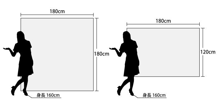 背景幕のサイズ
