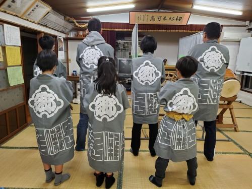 栃木県の東郷お囃子会様の半纏 後ろ身頃