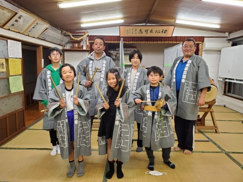 栃木県の東郷お囃子会様の半纏 前身頃