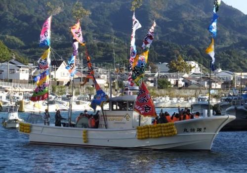 静岡県の諏訪丸様の大漁旗1