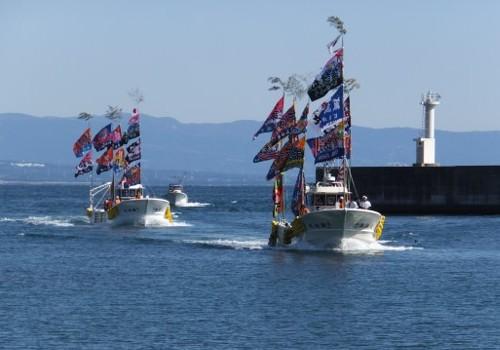 静岡県の諏訪丸様の大漁旗3