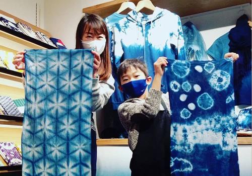 水野染工場日比谷OKUROJI店 藍染体験